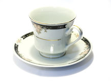 чай поддонника фарфора 1 чашки Стоковые Фотографии RF