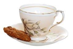 чай поддонника чашки печенья старый стоковое фото rf