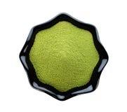 Чай порошка зеленый Стоковая Фотография