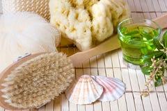 чай продуктов ванны Стоковое Изображение RF