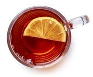 чай путя черной чашки клиппирования стеклянный включенный Стоковая Фотография RF