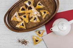 Чай, плюшки с вареньем Стоковое Изображение RF