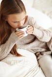Чай ребенка выпивая Стоковое фото RF