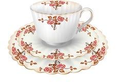 чай роз чашки Стоковая Фотография