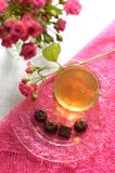 чай роз шоколадов розовый стоковое фото