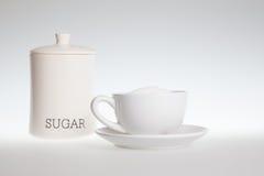 чай сахара чашки полный Стоковая Фотография