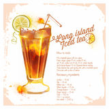 Чай со льдом Лонг-Айленд ocktails ¡ Ð Стоковые Фотографии RF