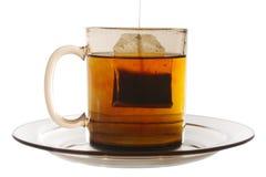 чай стекла конца мешка стоковое фото