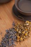 Чай стоцвета и лаванды Стоковые Изображения RF