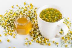 Чай стоцвета с медом Стоковые Изображения