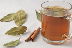 Чай с гайками и циннамоном сосны стоковое фото
