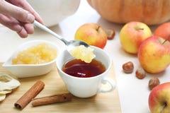 Чай с плодоовощ Вкус и ароматность чая зимы стоковое изображение