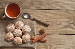 Чай с пряниками Стоковое Изображение