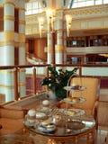чай таблицы максимума brunei установленный стоковая фотография