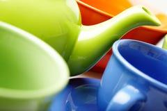 чай тарелки Стоковое фото RF