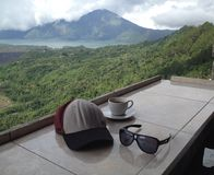 Чай утра на Kintamani стоковые изображения rf