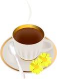 чай утра иллюстрация вектора