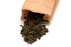 чай фото мешка бумажный Стоковая Фотография