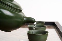 чай церемонии китайский японский Стоковая Фотография