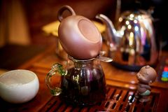 чай церемонии установленный Стоковое Фото