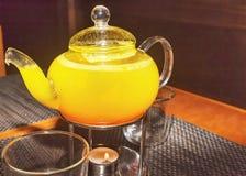 Чай чайника с стилем лимона и имбиря и меда japaneese Стоковые Фотографии RF