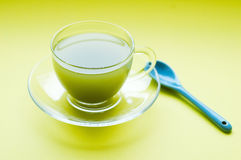 чай чашки зеленый Стоковая Фотография RF