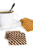 чай чашки печенья Стоковое Фото