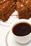 чай чашки торта Стоковое Изображение RF