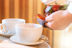 чай чашки травяной стоковое изображение