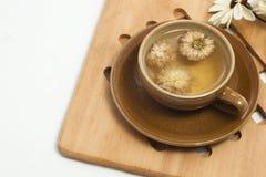 чай чашки хризантемы стоковая фотография