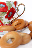 чай чашки bagels Стоковое фото RF