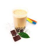 чай шоколада пузыря boba стоковое изображение rf