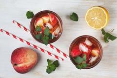 Чай льда персика Стоковые Изображения