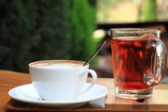 чай элементов конструкции кофе Стоковое Изображение RF