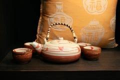 чай японии установленный Стоковая Фотография RF