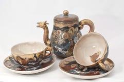 чай японца установленный Стоковая Фотография RF