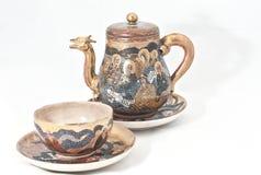 чай японца установленный Стоковая Фотография