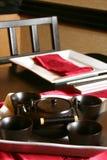 чай японца установленный стоковые фото