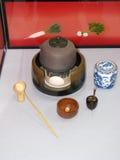 чай японца установленный Стоковое Изображение