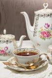 чай antique установленный Стоковые Изображения RF