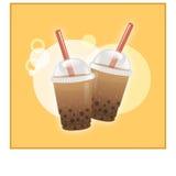 Чай Boba buble Стоковое Изображение