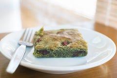 Чай matcha пирожного зеленый Стоковые Фото