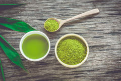 Чай Matcha Стоковые Изображения