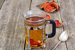 Чай Matum, деревянное Яблоко Стоковая Фотография RF