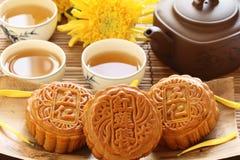 чай mooncake Стоковое фото RF