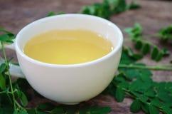 Чай Moringa для здоровья стоковое изображение rf