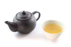 Чай Oolong с чайником агашка Стоковое Изображение