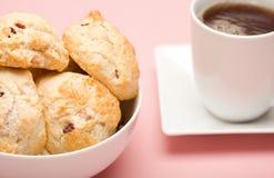 чай scones Стоковые Изображения