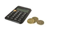 Чалькулятор и деньги Стоковая Фотография