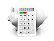 Чалькулятор сбережений Стоковые Изображения